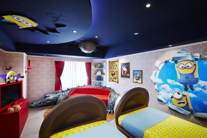 ホテル ユニバーサル ポート「Minions Room」ハロウィーンバージョン